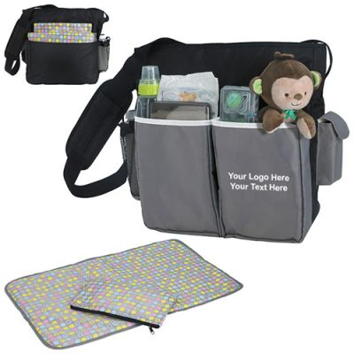 Custom Printed Tote Diaper Bags
