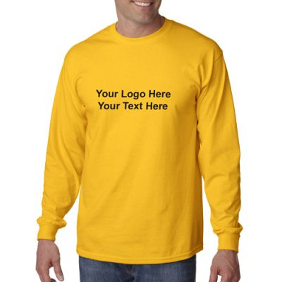 Custom Gildan Adult Ultra Cotton Long Sleeve T Shirts