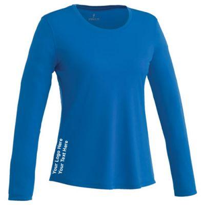 Custom imprinted parima long sleeve tech tee for women for Custom printed long sleeve t shirts