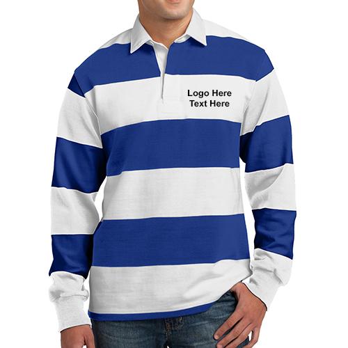 88951593 Custom Imprinted Sport-Tek Classic Long Sleeve Rugby Polo Shirts - Long  Sleeve