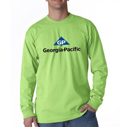 Custom printed bayside adult long sleeve tees long sleeve for Custom printed long sleeve t shirts