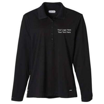 Custom printed women 39 s long sleeve polo shirts long sleeve for Custom printed long sleeve t shirts