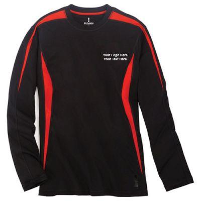 Custom printed men 39 s kemah long sleeve tech tee long sleeve for Custom printed long sleeve t shirts