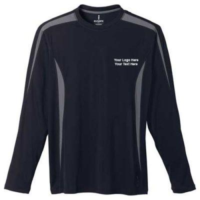 Custom printed men 39 s kemah long sleeve tech tee long sleeve for Personalized long sleeve t shirts