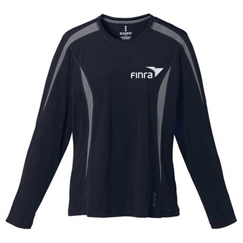 Custom printed women 39 s kemah long sleeve tech tee long for Personalized long sleeve t shirts