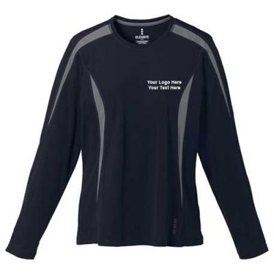 Custom printed women 39 s kemah long sleeve tech tee long for Custom printed long sleeve t shirts