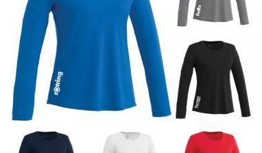 custom imprinted parima long sleeve tech tee for women
