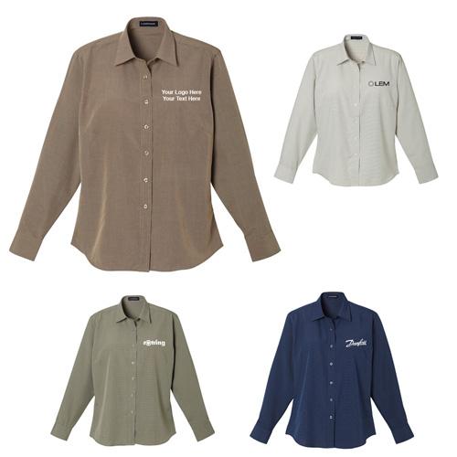 Custom printed women 39 s parsons long sleeve shirts long for Custom printed long sleeve t shirts
