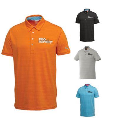 Custom imprinted men 39 s golf barcode stripe short sleeve for Custom printed polo shirts cheap