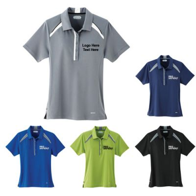 Custom Imprinted Quinn Women's Short Sleeve Polo Shirts