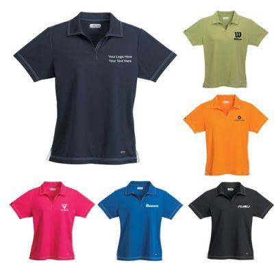 Custom Imprinted Women's Triple Stitch Short Sleeve Polo Shirts