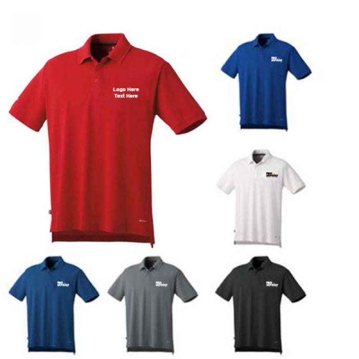 Logo Imprinted Men's Barela Short Sleeve Polo Shirts