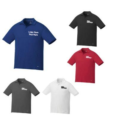 Custom Logo Imprinted Men's Short Sleeve Polo Shirts