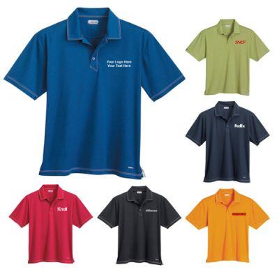 Custom Logo Imprinted Men's Triple Stitch Short Sleeve Polo Shirts