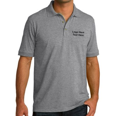 Custom port and company men 39 s core blend jersey knit polo for Custom company polo shirts