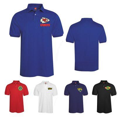 Custom Printed Hanes Mens Comfortblend Jersey Sport Polo Shirts