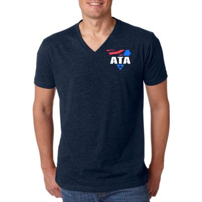 Custom Printed Next Level Men's Premium CVC V-Neck T-Shirts