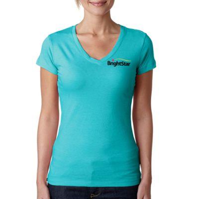 Custom Printed Next Level Sporty V-Neck T-Shirts