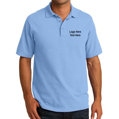 Custom printed port and company men 39 s core blend pique for Custom company polo shirts