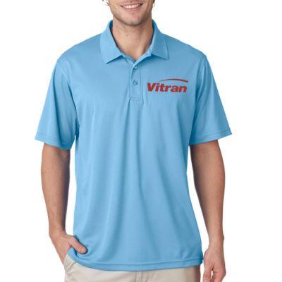 Custom Printed UltraClub Men's Cool and Dry Mesh Piqué Polo T-Shirts