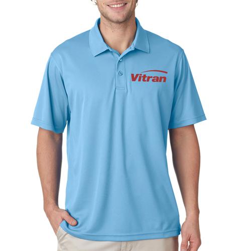 Custom printed ultraclub men 39 s cool and dry mesh piqu for Cool polo t shirts