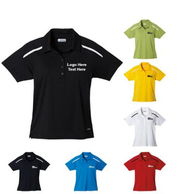 Custom Printed Women's Nyos Short Sleeve Polo Shirts