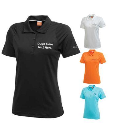 Customized Women's Golf Duo-Swing Short Sleeve Polo Shirts