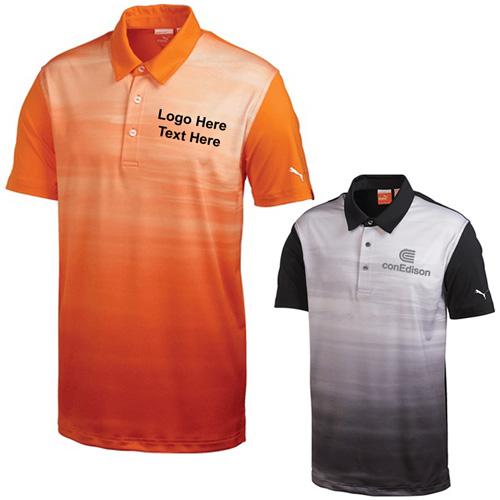 Promotional men 39 s golf digi sky short sleeve polo shirts for Custom printed golf shirts