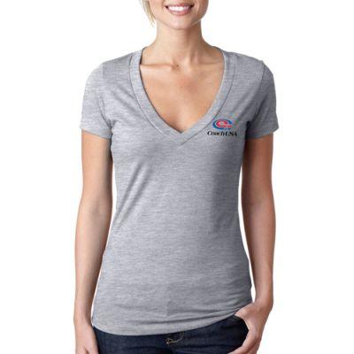 Promotional Next Level Women's The CVC Deep V-Neck T-Shirts