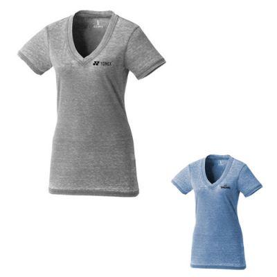 Custom Printed Burnout Jersey Short Sleeve Tee for Women