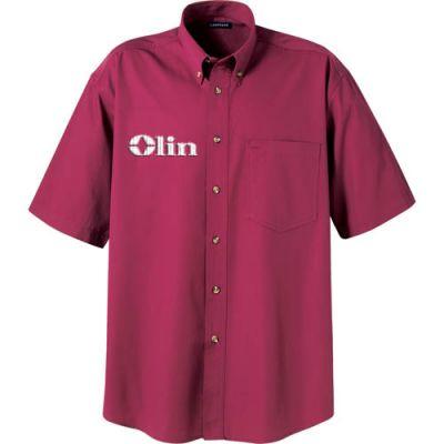 Custom Imprinted Short Sleeve Blended Dress Shirts
