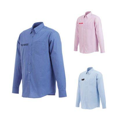 Custom Printed Men's Garnet Long Sleeve Shirts