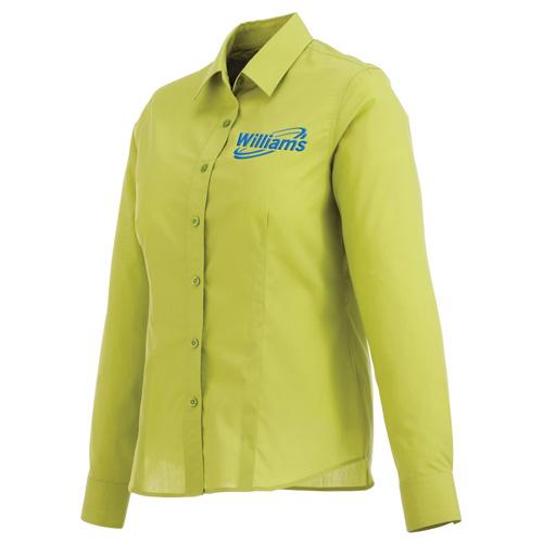 Custom printed women 39 s preston long sleeve shirts long for Custom printed long sleeve t shirts