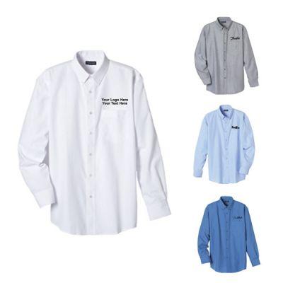 Custom Imprinted Men's Oxford Long Sleeve Shirts