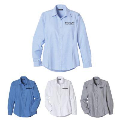 Custom Printed Women's Oxford Long Sleeve Shirts