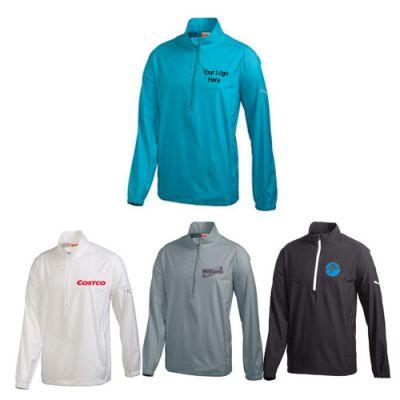 Custom Men's Puma Golf Half Zip Long Sleeve Wind Jackets