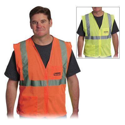 Custom Imprinted 2 Pocket Value Mesh Vests