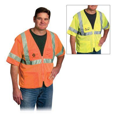 Custom Imprinted Value 4 Pocket Zipper Mesh Vests