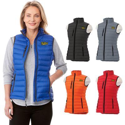 custom imprinted women whistler light down vests
