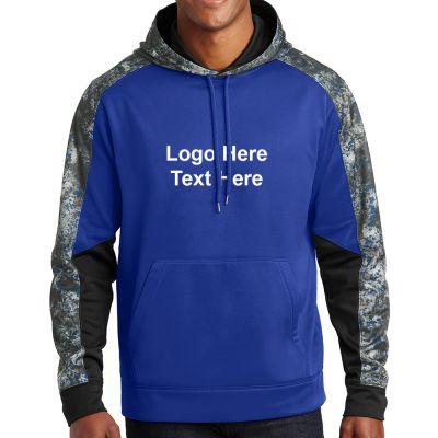 Personalized Sport-Tek Sport-Wick Mineral Freeze Fleece Colorblock Hooded Pullover