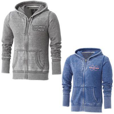 Personalized Women's Burnout Fleece Full Zip Hoodies