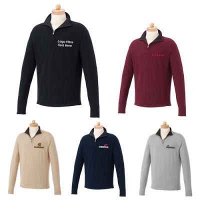Custom Imprinted Men's Moreton Quarter Zip Cotton Sweaters