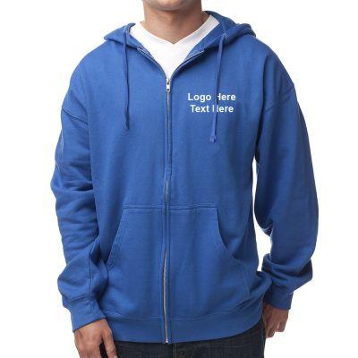 Custom Printed Men's Midweight Zip Hooded Sweatshirt