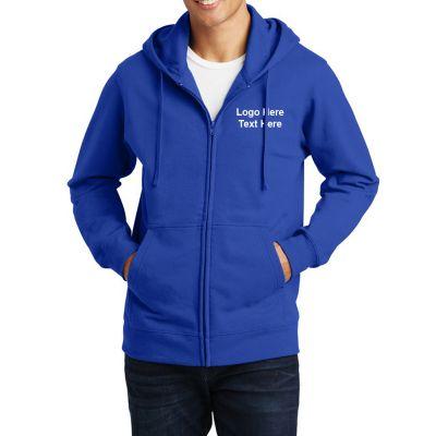 Promotional Port and Company Fan Favorite Men's Full Zip Hooded Sweatshirts