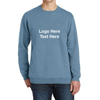 Custom Printed Port and Company Pigment Dyed Crewneck Sweatshirts