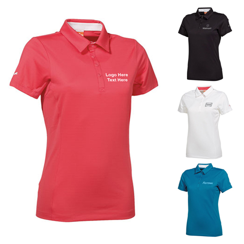 Custom printed womens puma golf tech women polo shirts for Custom printed golf shirts