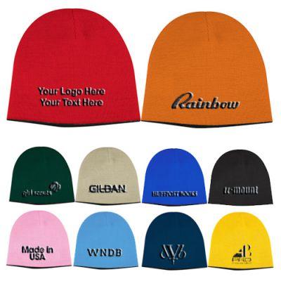 Custom Printed 2-Tone Knit Caps