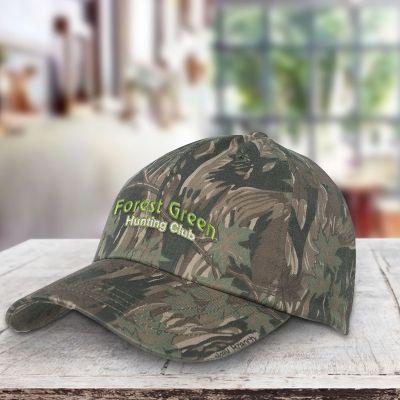 Custom Printed Camouflage 6 Panel Cotton Caps