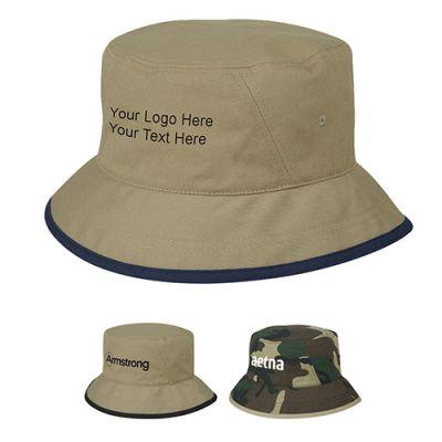 Custom Printed Cotton Twill Bucket Hats