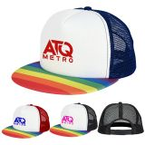 Custom Printed Rainbow Trucker Caps